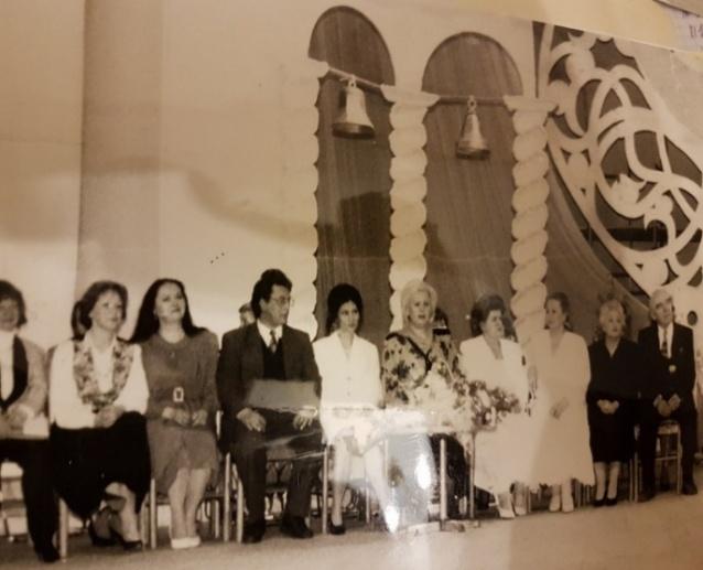 Команда руководителей Дворца. Юбилей Дворца в Концертном зале. 1991 год