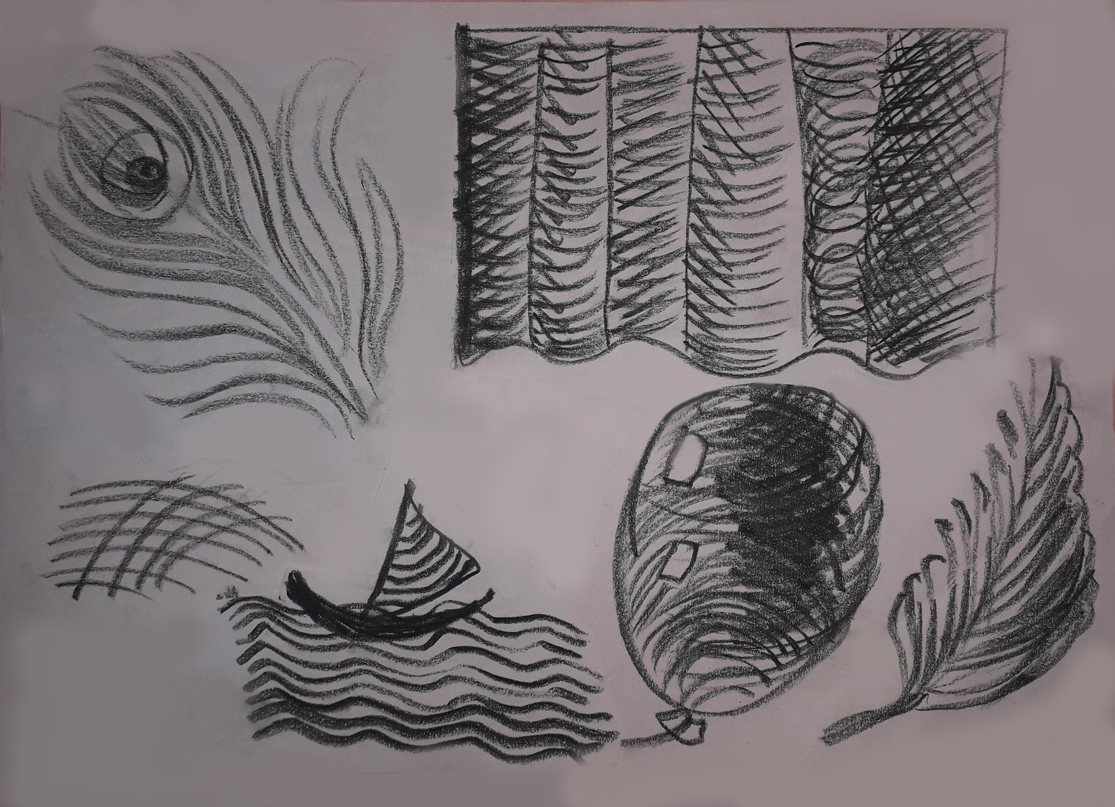 Рис 6. Штрих по форме . Уголь