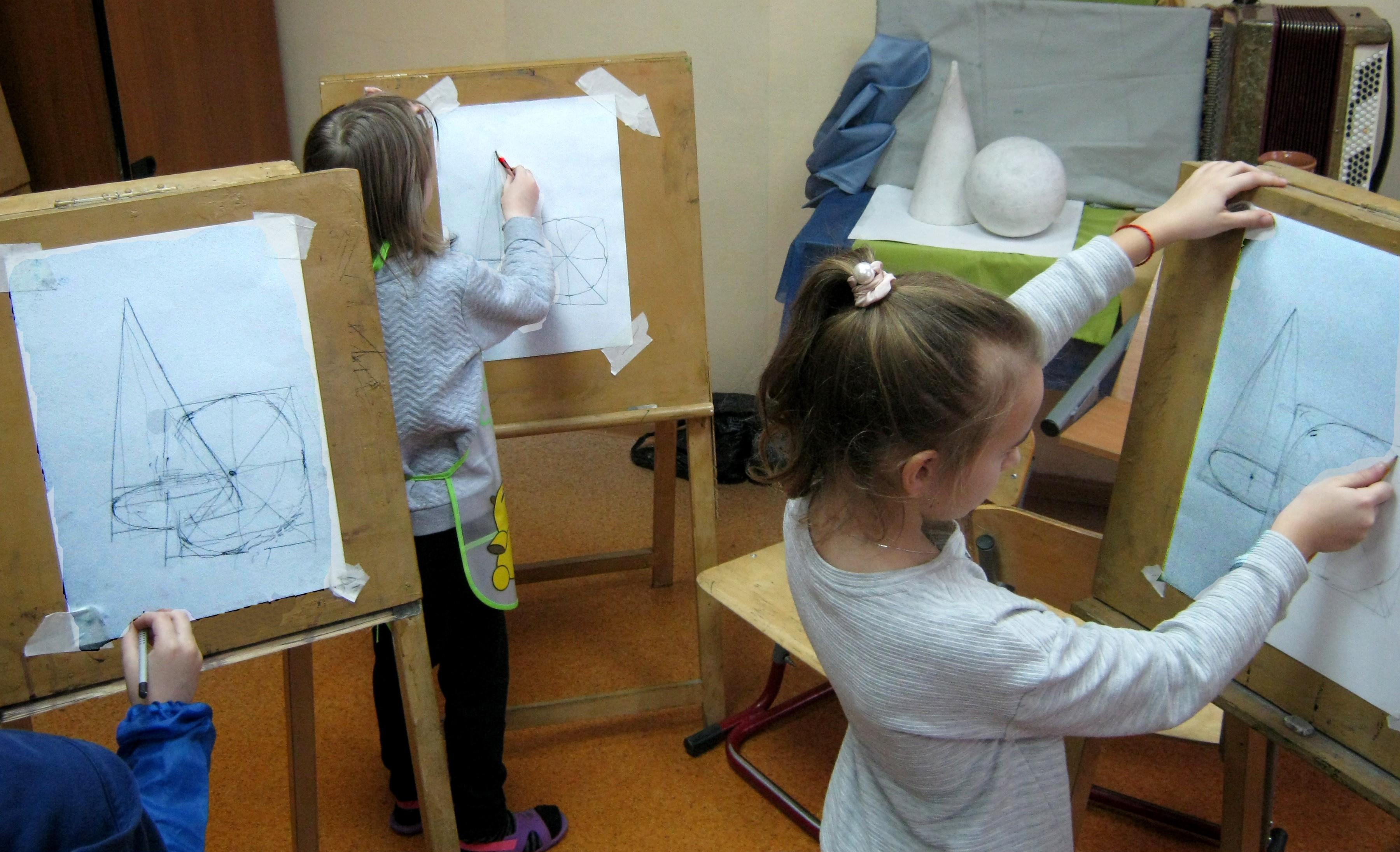 Выполнение конструктивного рисунка